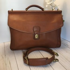 Coach 5266 Beekman Leather Briefcase Messenger Bag